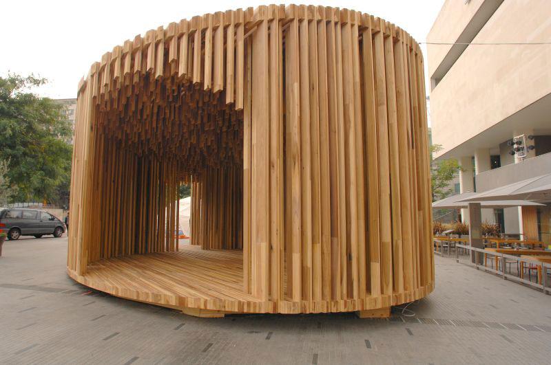 sclera pavillon aus duo lam. Black Bedroom Furniture Sets. Home Design Ideas